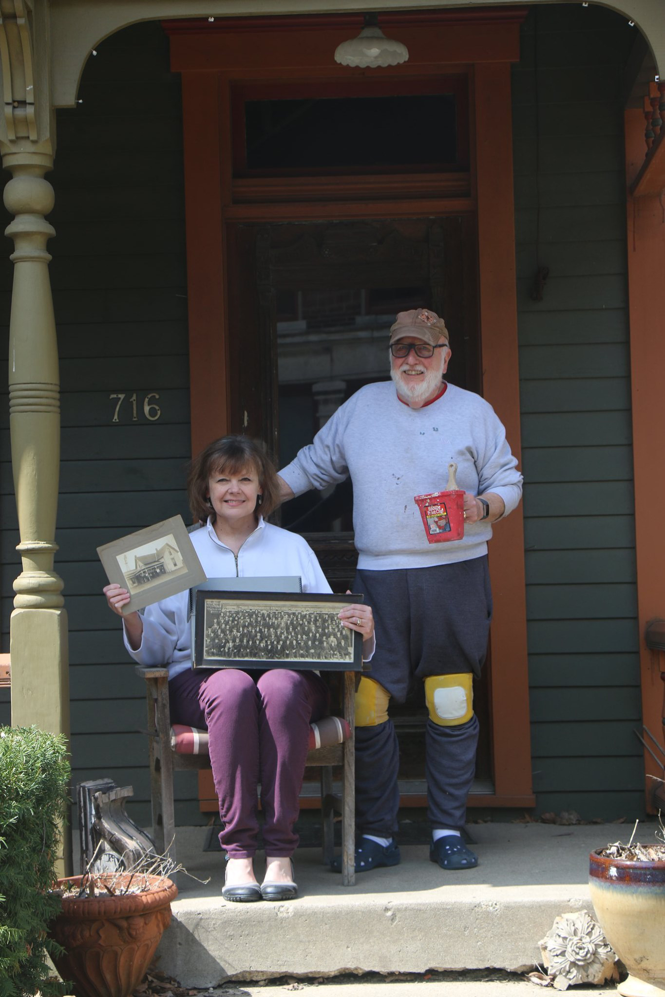 Joan Hostetler and John Harris