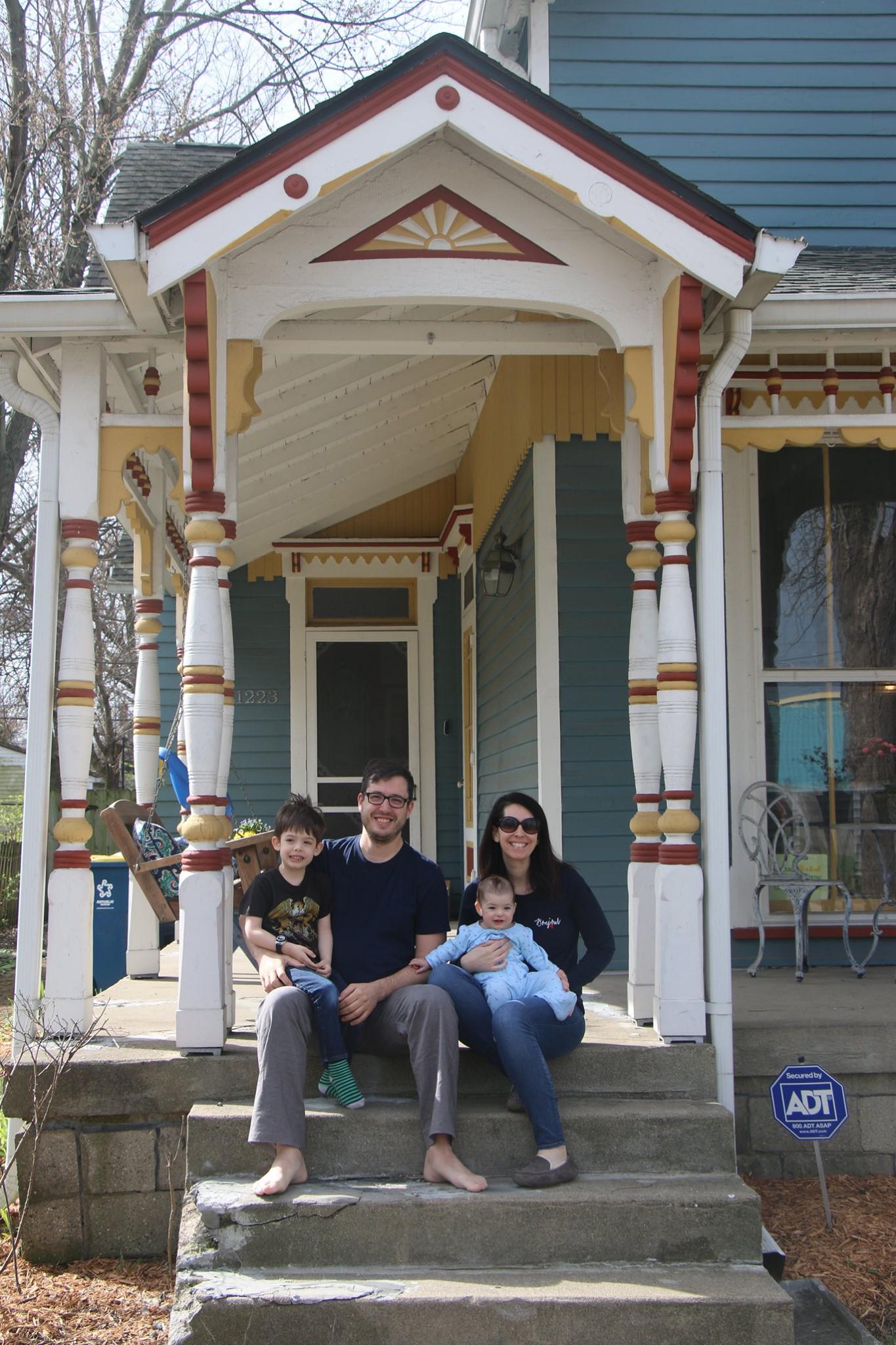 Justin and Nancy Gutwein w/family