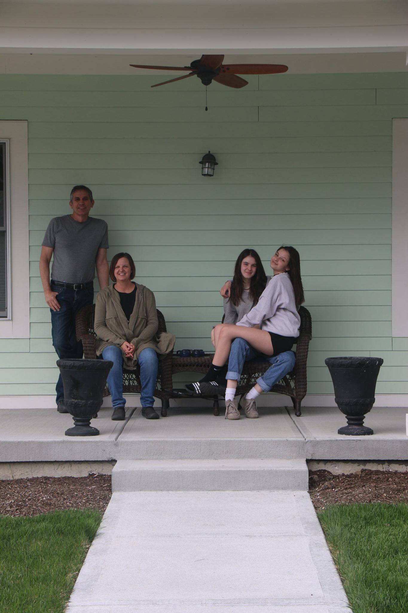 Tim, Heidi, Maddie, and Ellie Altom